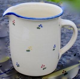 Krug gerade -blaue Blumen- ∅ 12,5 cm H. 15 cm, 1 Liter
