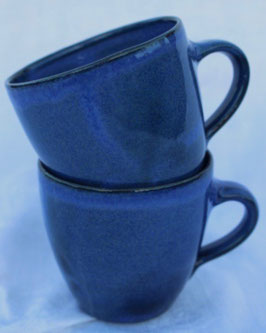 Becher Manu klein - Blau - . ∅8 cm, H.7,5 cm. 250 ml, je