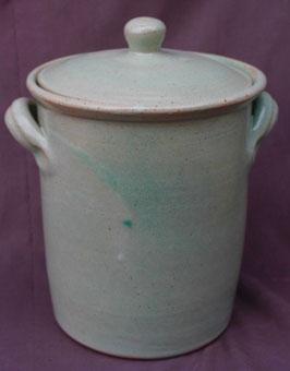 Topf - Türkis.- ∅ 19cm, H. 23 cm. Innen mit oder ohne Glasur.
