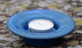 Teelicht Schale - WM türkis -  ∅ 11 cm H. 3,5 cm