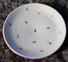 Frühstücks Teller- rote Blumen- ∅ 20cm, H. flach