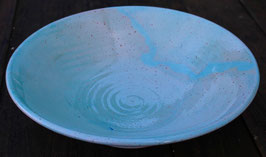 Schale - türkis WMSB  -  ∅ 24 cm, H. 6,5 cm.