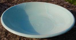 Schale  - türkis -. ∅ 31,5 cm, H. 6 cm