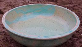 Schüssel - türkis WMSB  -  ∅ 29cm, H. 8 cm. Farbe im Original etwas intensiver