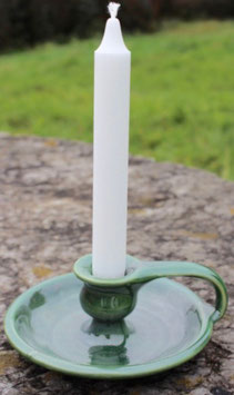 Kerzenständer Darmol / WM - grüne Glasur. ∅ 14 cm. H. 6 cm