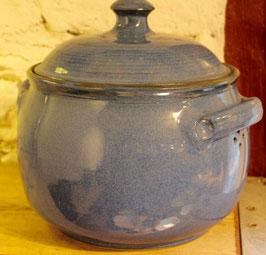 Brottopf - Blau- ∅ 23 cm, H. 18 cm. Innen mit oder ohne Glasur.
