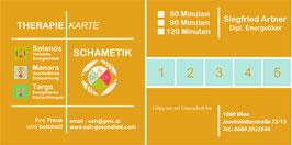 Gutschein für Therapiekarte über 5 Behandlungen a 60, 90 oder 120 Minuten