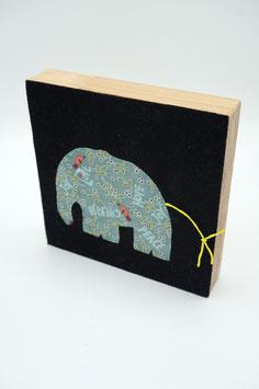 Bild Elefant blaugrün