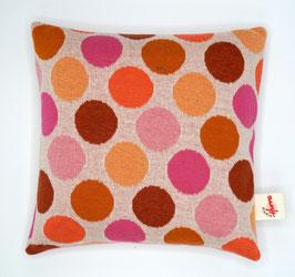 Jaquard-Strick-Kissen rosa (Punkte) inkl. Inlet mit verschiedenen Füllmaterialien