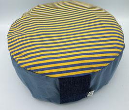 Sitzriese Streifen blau/gelb