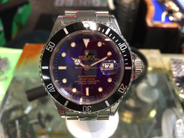 ROLEX SUBMARINER STAINLESS SUB-BLUE DIAL/ BLACK BEZEL