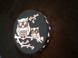 Eulen - Lampe für die Wand 41cm
