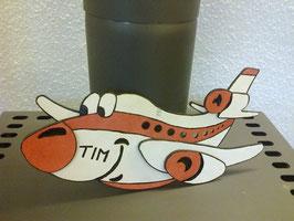 Das freche Flugzeug in 4 Ebenen ;Bastelset