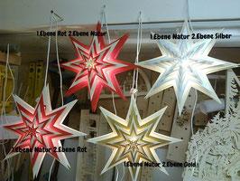 Weihnachtsstern in 12 Ebenen inkl. Beleuchtung 41cm Groß