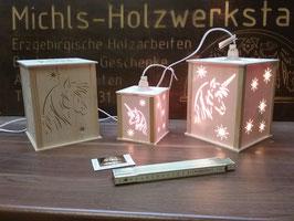 Einhorn-Laterne oder Pferde-Laterne in 2 Größen inkl. Leuchtmittel und Kabel