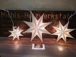 Weihnachtsstern in 10 Ebenen 31cm groß ; und 8 Ebenen 21cm Groß inkl. Beleuchtung