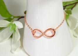 Infinity Armband rosegoldfarben