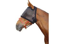 Fliegenschutzmaske mit Ohrenaussparung, schwarz