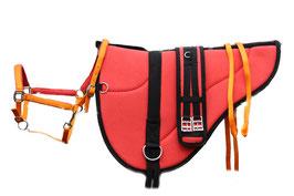 Basic barebackpad set Lachs/Orange Farbig