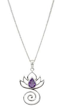 Halskette Lotus Amethyst (1 mm)