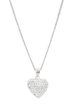 Halskette Crystal Heart (1 mm)