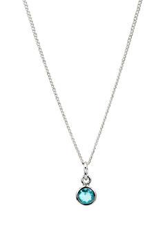 Halskette Round Blue Topaz (1 mm)