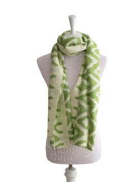 Seidenschal Weiß | Grün