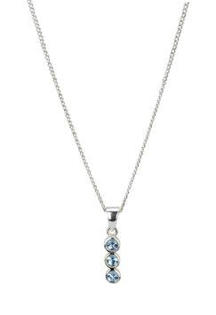 Halskette Blue Zirconia (1 mm)