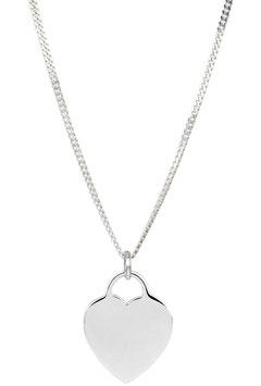 Halskette Flat Heart  (1,5 mm)