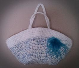 Cereta de trapillo azul/blanca
