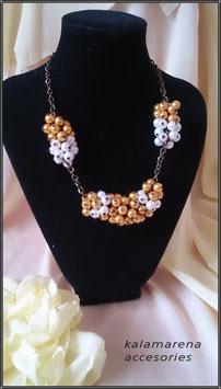 Collar perlas bicolor
