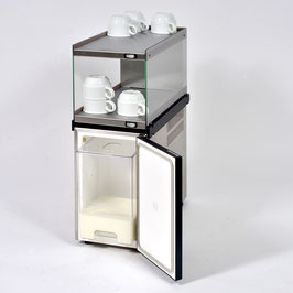 Komplettset zum Vorteilspreis: Tassenwärmer-Aufsatzmodul Glas + 5l Milchkühler Standard + Absturzsicherung