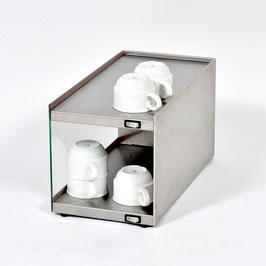 Tassenwärmer-Aufsatzmodul Glas links/Edelstahl rechts