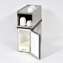 Komplettset zum Vorteilspreis: Tassenwärmer-Aufsatzmodul Edelstahl + 5l Milchkühler Standard + Absturzsicherung