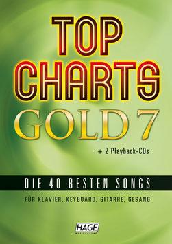 Top Charts Gold 7 (mit 2 CDs) – Die 40 besten Songs für Klavier, Keyboard, Gitarre und Gesang