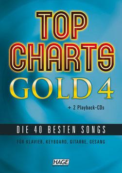Top Charts Gold 4 (mit 2 CDs) – Die 40 besten Songs für Klavier, Keyboard, Gitarre und Gesang