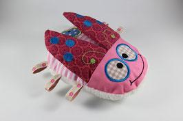 Käfer Karli rosa mit Knisterflügeln