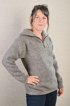 Pullover mit Reißverschluß  grau