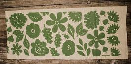 Schal mit stilisierten Blumen und Blättern