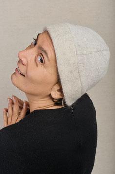 Mütze mit Mohairwolle