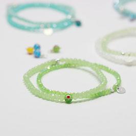 Armband Green Millefiori