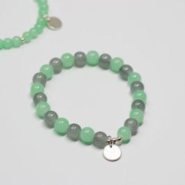 Armband Drops Mint/Grau
