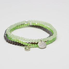 Armband grüner Chalzedon