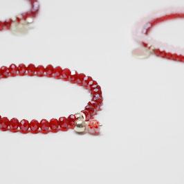 Armband Millefiori Red