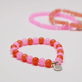 Armband Drops Pink/Orange