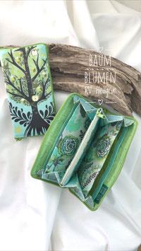 Geldbörse - Baum Türkis