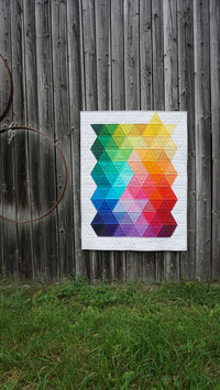 Babyquilt / Kniedecke - Rainbow Triangles