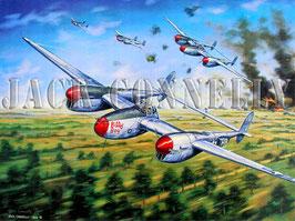 (Signed by Pilot) P-38 Lightnings Strike Ploesti