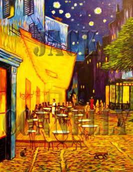 Cat'fe Terrace (After Van Gogh)