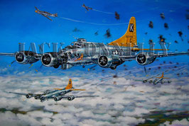 B-17's At Altitude